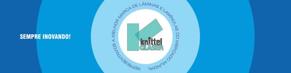 Lâmina para microscopia knittel